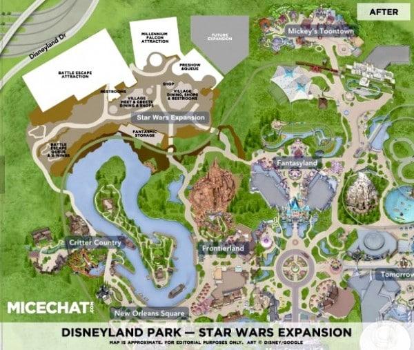 Star Wars Land Map viA Micechat