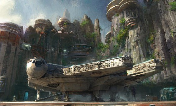 Star Wars-Themed Land Artist Concept Disneyworld Disneyland