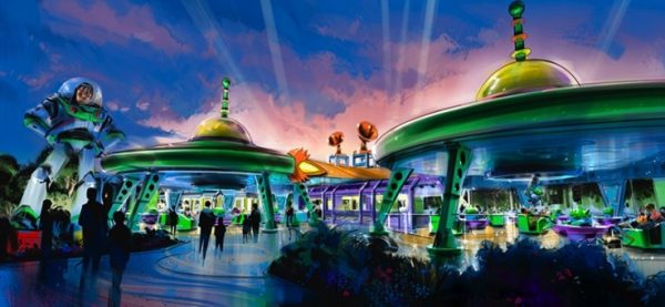 Alien Swirling Saucers Attraction in Upcoming Toy Story Land