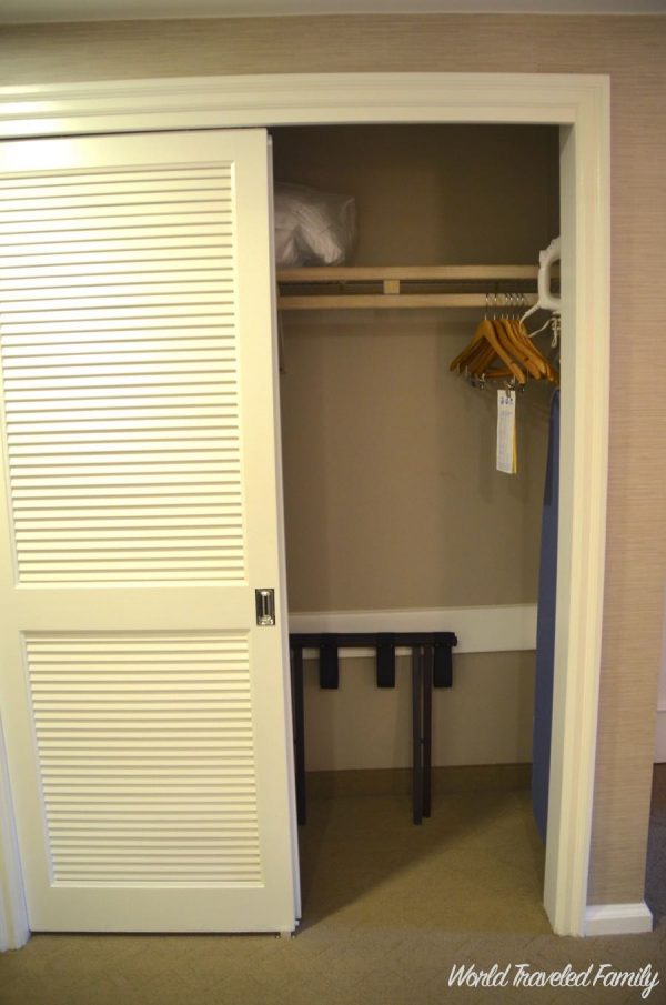 Disney's Beach Club Resort ~ Room Tour - closet