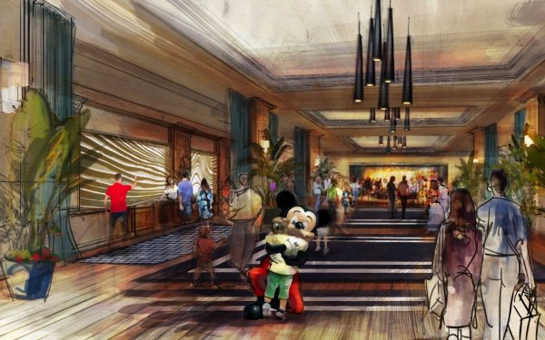 New Disneyland hotel rendering - lobby