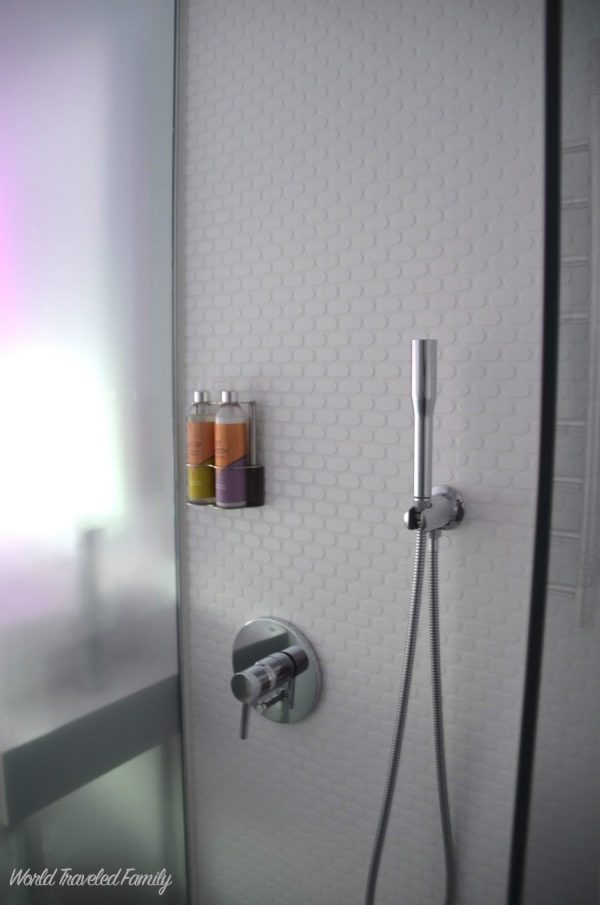Yotel NYC Cabin Review - shower