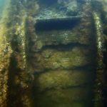 Underwater ROV Looking at Stairs USS Arizona