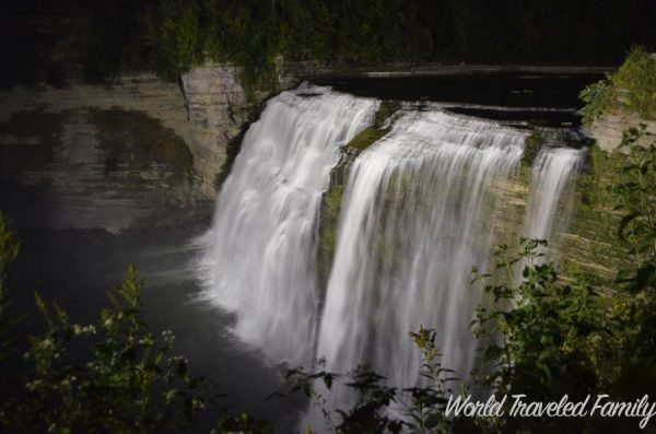 Letchworth State Park at night