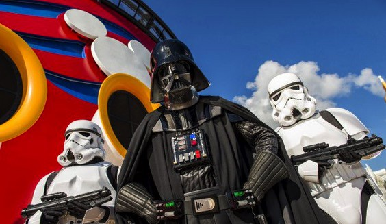 Star Wars Day At Sea - darth vader with storm troopers