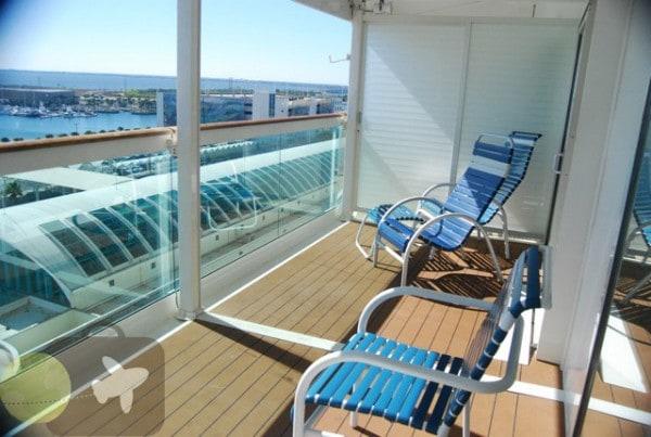 Freedom of The Seas- Junior suite balcony