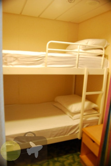 Freedom of The Seas- Junior suite, bunk room