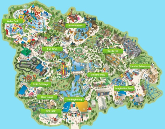 Legoland Map World Traveled Family