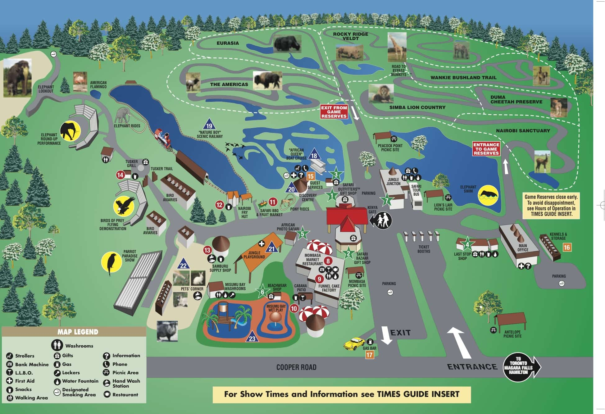 African Safari Park Map 2011 World Traveled Family
