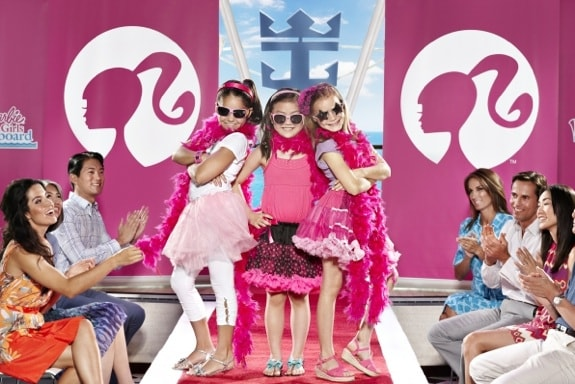 Girls participating in the Barbie Premium experience - Royal Caribbean