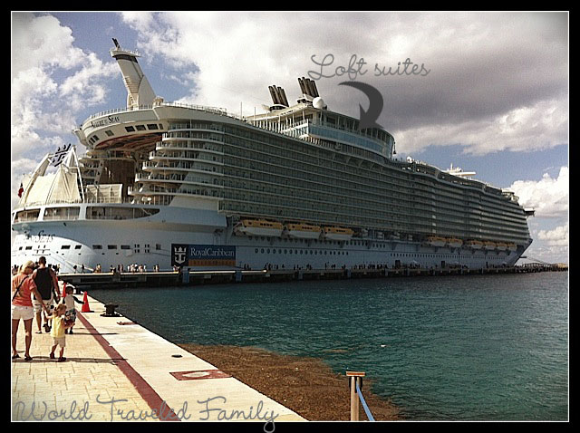 Allure of the seas ship view - cozumel