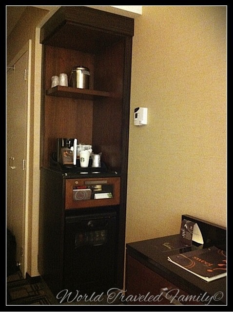 Travel review sheraton new york times square hotel for Apartment size coffee maker