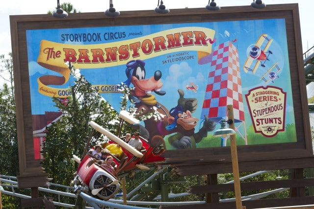 Walt Disney World Fantasyland - the barnstormer
