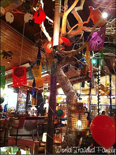 Lynns Paradise Cafe - tree inside the restaurant