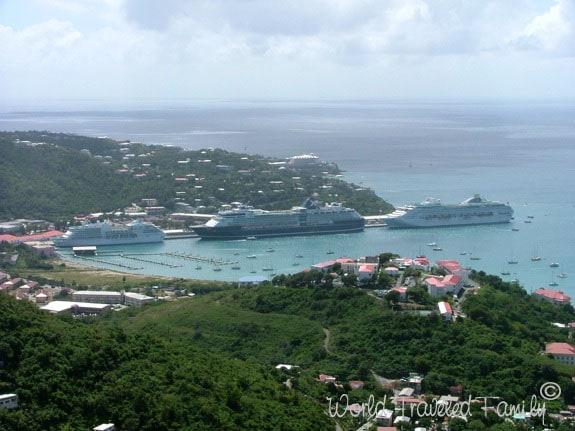 Cruise Ships lined up in ST. Thomas USVI