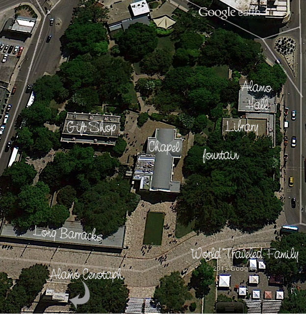 Aerial View of the Alamo