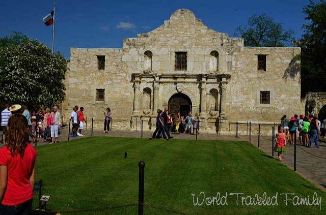 Front view of the Alamo San Antonio