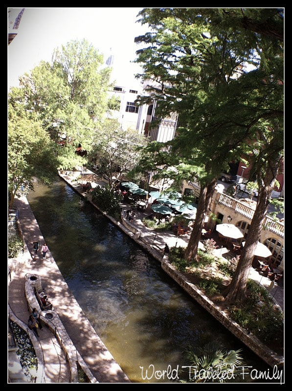 View of San Antonio Riverwalk from the Omni