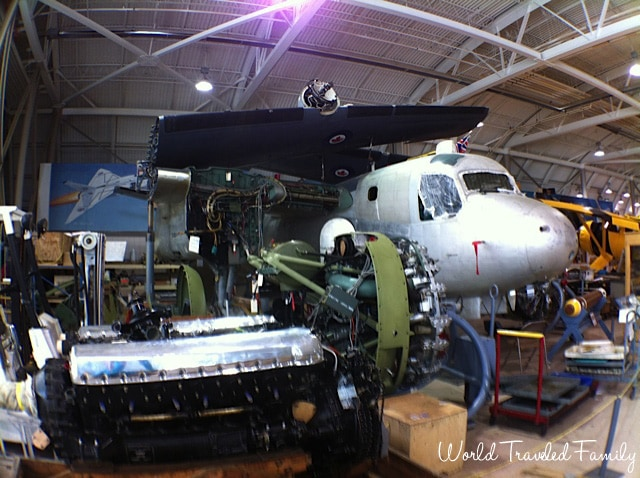 Canadian Warplane Heritage Museum - aircraft being restored