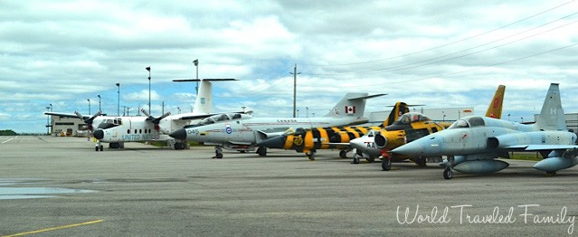 Canadian Warplane Heritage Museum - planes lined up out side