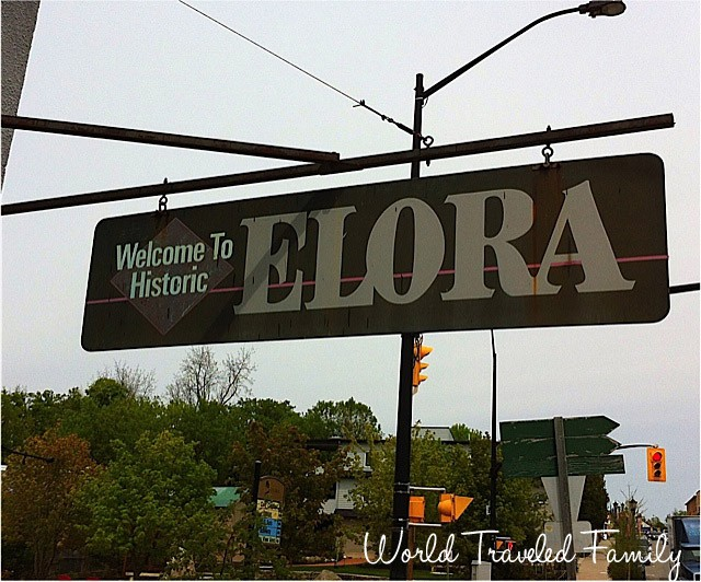 Elora Village sign