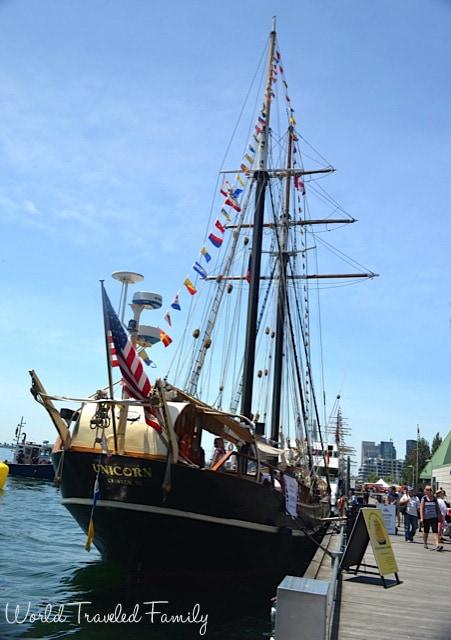 STV Unicorn - tall ship tour Toronto