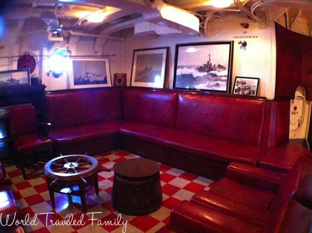 HMCS Haida - Captain's lounge