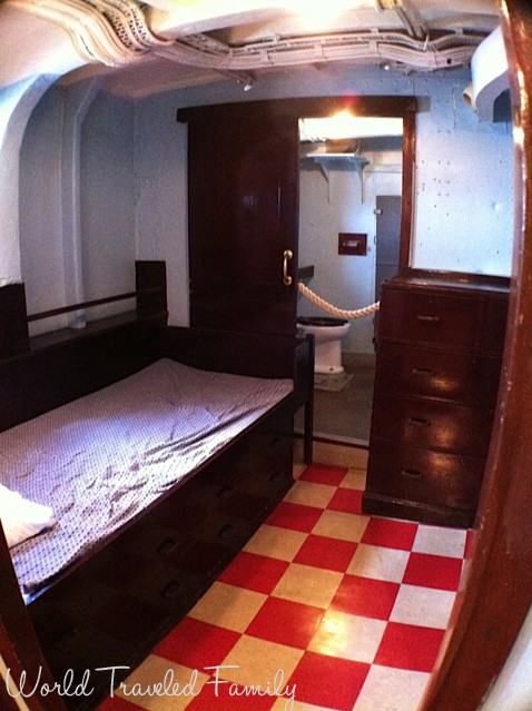 HMCS Haida - captains sleeping quarters