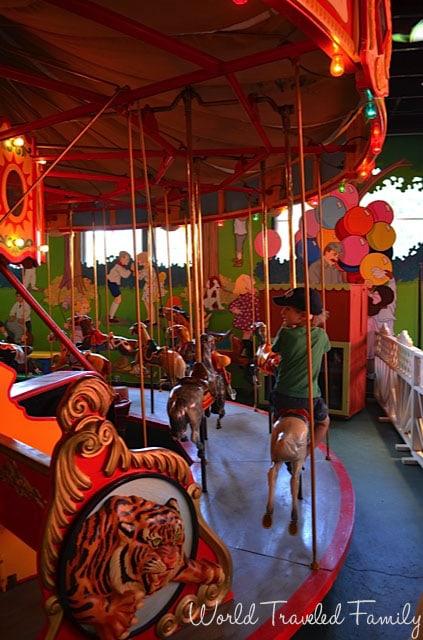 Allan Herschell Carrousel Factory Museum - children's carrousel