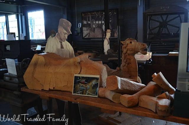 Allan Herschell Carrousel Factory Museum - workshop