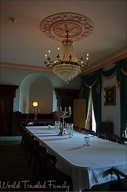 Dundurn Castle - formal dining room