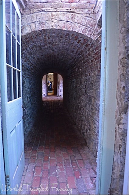 Dundurn Castle - tunnel in the basement