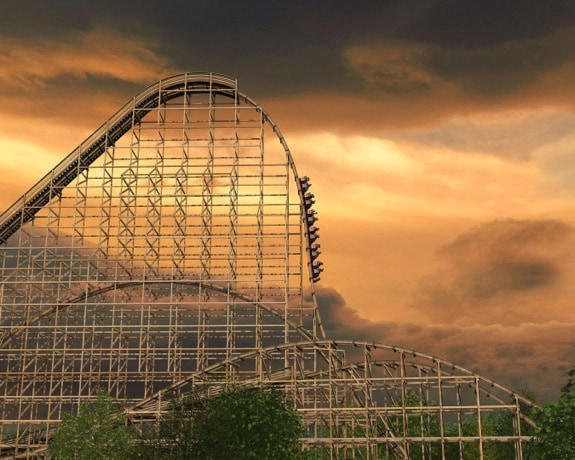 Spring Six Flags Great America Goliath Wooden Coaster