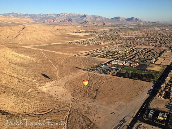 Las Vegas Balloons - looking over the city