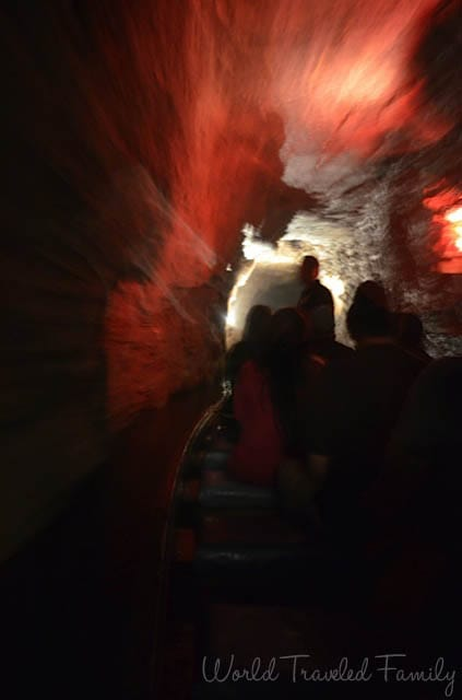 Lockport Caves - cruising inside the tunnel