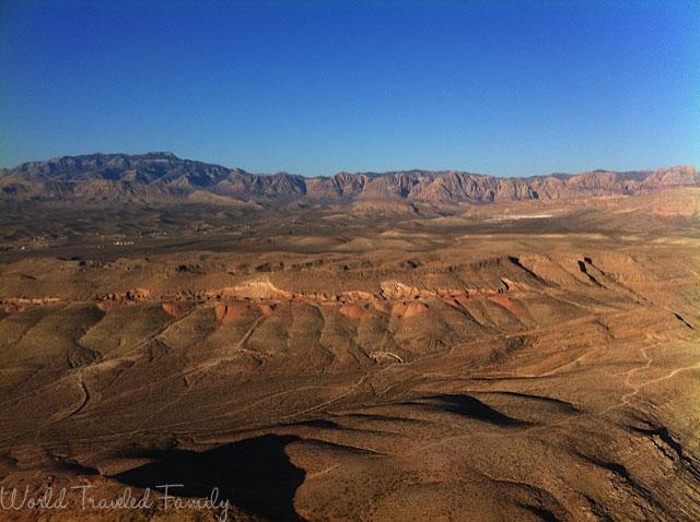 the Las Vegas mountains- Vegas Balloon Ride