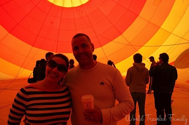 us inside the balloon Vegas Balloon Ride