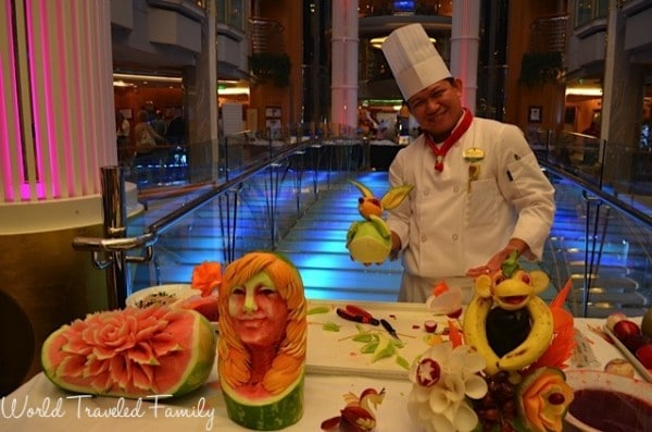 Freedom of the Seas - Freedom Fest Marlon Bandol fruit carving