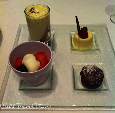 Freedom of the Seas - dessert sampler at portofinos