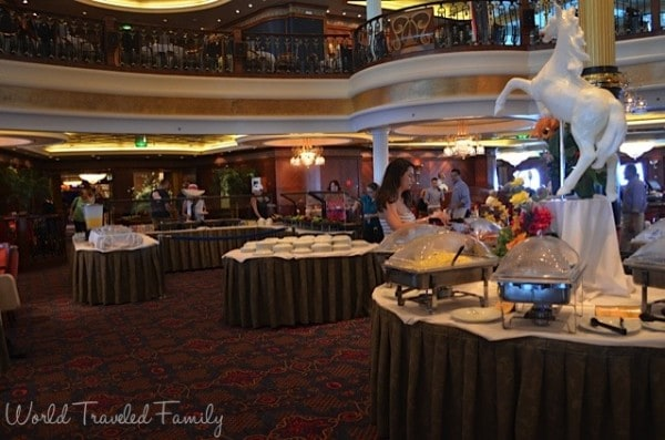 Freedom of the Seas - dining room breakfast buffet