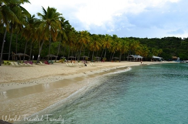 St. Thomas Kon Tiki Boat Tour - honeymoon beach on Water Island
