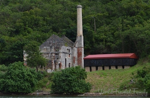 St. Thomas Kon Tiki Boat Tour - view of Head House Hassel Island