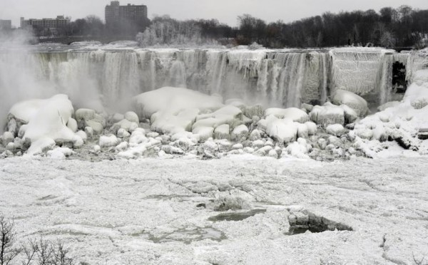Partially frozen Niagara Falls