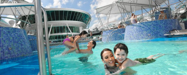 Family by the pool Royal Caribbean