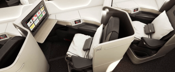 Air Canada 787 Dreamliner business class seat