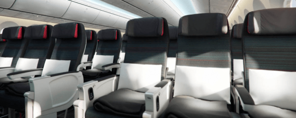 Air Canada 787 Dreamliner economy cabin