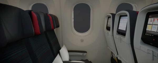 Air Canada 787 Dreamliner larger cabin windows
