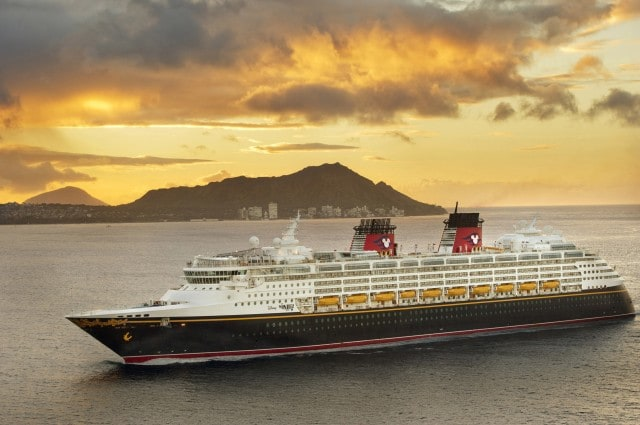 Disney Wonder in Honolulu, Hawaii