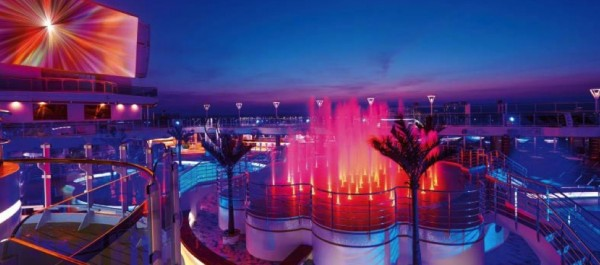 Regal Princess lights and water spectacular