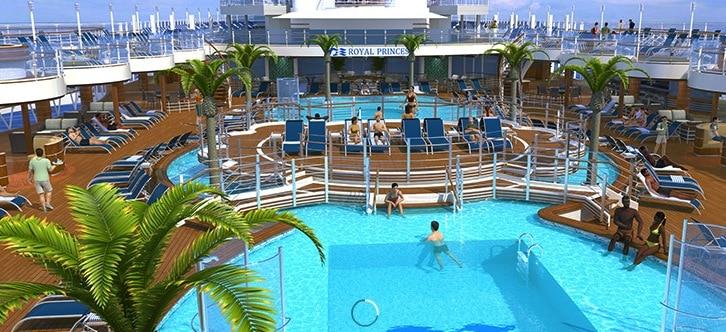 Regal Royal Princess Cruise Ship Main Pool Area World